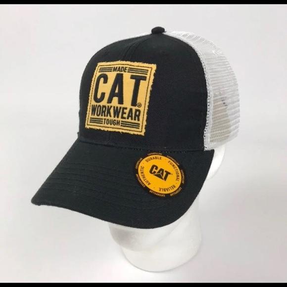 b7d4f0ff0 CAT Caterpillar Mesh Trucker Hat Cap New NWT